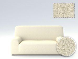 Ελαστικά καλύμματα καναπέ Valencia-Πολυθρόνα-Ιβουάρ-10+ Χρώματα Διαθέσιμα-Καλύμματα Σαλονιού