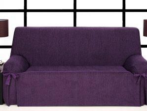 Καλύμματα καναπέ σταθερά με δέστρες Kioto-Τριθέσιος-Μωβ-10+ Χρώματα Διαθέσιμα-Καλύμματα Σαλονιού