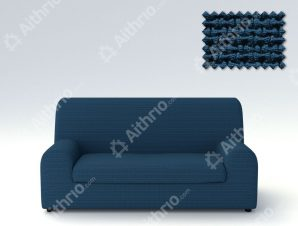 Ελαστικά καλύμματα καναπέ Ξεχωριστό Μαξιλάρι Bielastic Alaska-Τριθέσιος-Μπλε-10+ Χρώματα Διαθέσιμα-Καλύμματα Σαλονιού