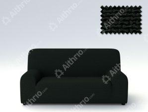 Ελαστικά Καλύμματα Προσαρμογής Σχήματος Καναπέ Bielastic Alaska-Μαύρο-Διθέσιος-10+ Χρώματα Διαθέσιμα-Καλύμματα Σαλονιού