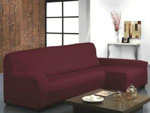 Ελαστικά καλύμματα γωνιακού καναπέ Bielastic Alaska-Δεξια-Μπορντώ