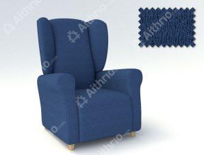 Ελαστικά Καλύμματα Μπερζέρας Valencia-Μπερζερα-Μπλε-10+ Χρώματα Διαθέσιμα-Καλύμματα Σαλονιού