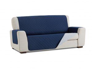 Σταθερά Καλύμματα Διπλής Όψης Universal Quilt – Μπλε/Γκρι – Τριθέσιος-10+ Χρώματα Διαθέσιμα-Καλύμματα Σαλονιού