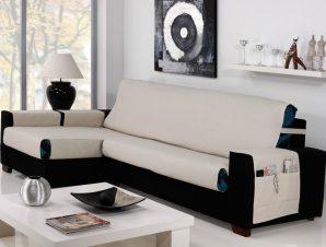 Καλύμματα καναπέ Γωνία Universal Banes-Δεξια 235cm-Ιβουάρ