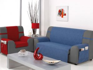 Καλύμματα καναπέ Universal Banes-Διθέσιος-Μπλε-10+ Χρώματα Διαθέσιμα-Καλύμματα Σαλονιού