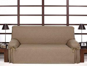 Καλύμματα καναπέ σταθερά με δέστρες Banes-Τριθέσιος-Καφέ-10+ Χρώματα Διαθέσιμα-Καλύμματα Σαλονιού