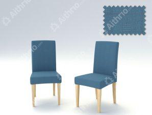 Σετ (2 Τμχ) Ελαστικά Καλύμματα Καρεκλών Με Πλάτη Tania-Γαλάζιο