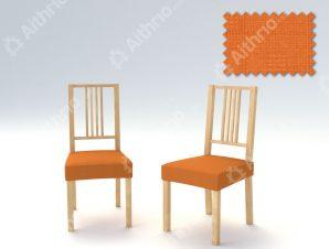 Σετ (2 Τμχ) Ελαστικά Καλύμματα-Καπάκια Καρέκλας Tania – C/7 Πορτοκαλί