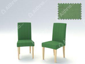Σετ (2 Τμχ) Ελαστικά Καλύμματα Καρεκλών Με Πλάτη Tania-Πράσινο Ανοιχτό
