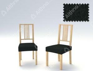 Σετ (2 Τμχ) Ελαστικά Καλύμματα-Καπάκια Καρεκλών Valencia-Μαύρο