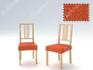 Σετ (2 Τμχ) Ελαστικά Καλύμματα-Καπάκια Καρεκλών Valencia-Πορτοκαλί