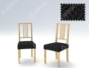 Σετ (2 Τμχ) Ελαστικά Καλύμματα-Καπάκια Καρεκλών Miro-Μαύρο