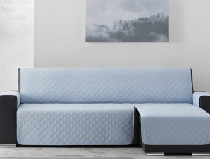 Σταθερά Καλύμματα Καναπέ Γωνία Universal Quilt – C/24 Ανοιχτό Μπλε – Γωνία 280cm