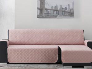 Σταθερά Καλύμματα Καναπέ Γωνία Universal Quilt – C/22 Ροζ – Γωνία 240cm
