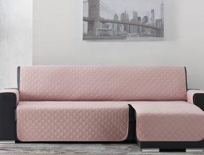 Σταθερά Καλύμματα Καναπέ Γωνία Universal Quilt – C/22 Ροζ – Γωνία 280cm