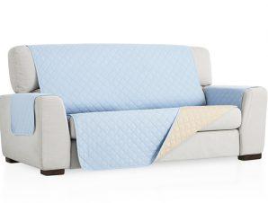 Σταθερά Καλύμματα Καναπέ, Πολυθρόνας Διπλής Όψης- σχ. Universal Quilt – C/24 Ανοιχτό Μπλε – Τριθέσιος-10+ Χρώματα Διαθέσιμα-Καλύμματα Σαλονιού