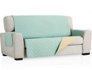 Σταθερά Καλύμματα Καναπέ, Πολυθρόνας Διπλής Όψης- σχ. Universal Quilt – C/23 Μέντα – Πολυθρόνα-10+ Χρώματα Διαθέσιμα-Καλύμματα Σαλονιού