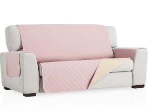 Σταθερά Καλύμματα Καναπέ, Πολυθρόνας Διπλής Όψης- σχ. Universal Quilt – C/22 Ροζ – Τριθέσιος-10+ Χρώματα Διαθέσιμα-Καλύμματα Σαλονιού
