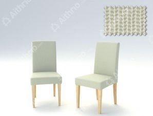 Σετ (2 Τμχ) Ελαστικά Καλύμματα Καρέκλας Με Πλάτη Creta – C/1 Ιβουάρ