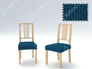 Σετ (2 Τμχ) Ελαστικά Καλύμματα-Καπάκια Καρέκλας Creta – C/4 Μπλε