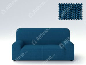 Ελαστικά Καλύμματα Καναπέ Creta – C/4 Μπλε – Τετραθέσιος-10+ Χρώματα Διαθέσιμα-Καλύμματα Σαλονιού