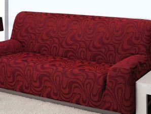Ελαστικά καλύμματα καναπέ Danubio-Τετραθέσιος-Μπορντώ-10+ Χρώματα Διαθέσιμα-Καλύμματα Σαλονιού