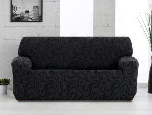 Ελαστικά καλύμματα καναπέ Danubio-Πολυθρόνα-Μαύρο-10+ Χρώματα Διαθέσιμα-Καλύμματα Σαλονιού