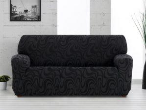 Ελαστικά καλύμματα καναπέ Danubio-Τριθέσιος-Μαύρο-10+ Χρώματα Διαθέσιμα-Καλύμματα Σαλονιού