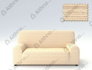 Ελαστικά καλύμματα καναπέ Ibiza-Τριθέσιος-Ιβουάρ-10+ Χρώματα Διαθέσιμα-Καλύμματα Σαλονιού
