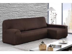 Ελαστικά καλύμματα γωνιακού καναπέ Peru-Δεξια-Καφέ