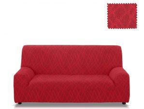 Ελαστικά καλύμματα καναπέ Karen-Τριθέσιος-Μπορντώ-10+ Χρώματα Διαθέσιμα-Καλύμματα Σαλονιού