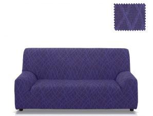 Ελαστικά καλύμματα καναπέ Karen-Τριθέσιος-Μπλε-10+ Χρώματα Διαθέσιμα-Καλύμματα Σαλονιού
