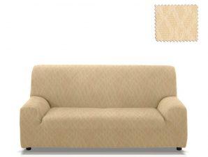 Ελαστικά καλύμματα καναπέ Karen-Τριθέσιος-Ιβουάρ-10+ Χρώματα Διαθέσιμα-Καλύμματα Σαλονιού
