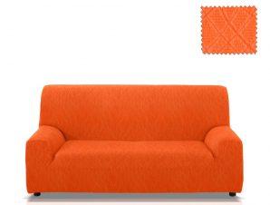 Ελαστικά καλύμματα καναπέ Karen-Τετραθέσιος-Πορτοκαλί-10+ Χρώματα Διαθέσιμα-Καλύμματα Σαλονιού