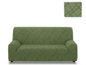 Ελαστικά καλύμματα καναπέ Karen-Τριθέσιος-Πράσινο-10+ Χρώματα Διαθέσιμα-Καλύμματα Σαλονιού