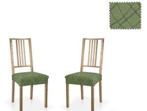 Σετ (2 Τμχ) Ελαστικά Καλύμματα-Καπάκια Καρεκλών Karen-Πράσινο