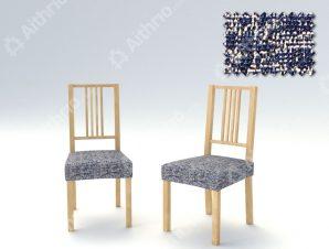 Σετ (2 Τμχ) Ελαστικά Καλύμματα-Καπάκια Καρέκλας Malta-C/4 Μπλε
