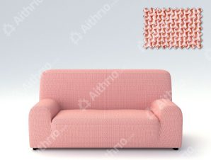 Ελαστικά Καλύμματα Προσαρμογής Σχήματος Καναπέ Alaska – C/22 Ροζ – Διθέσιος-10+ Χρώματα Διαθέσιμα-Καλύμματα Σαλονιού