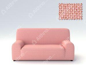 Ελαστικά Καλύμματα Προσαρμογής Σχήματος Καναπέ Alaska – C/22 Ροζ – Τριθέσιος-10+ Χρώματα Διαθέσιμα-Καλύμματα Σαλονιού
