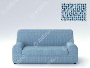 Ελαστικά Καλύμματα Καναπέ, Πολυθρόνας Λύκρα- σχ. Ξεχωριστό Μαξιλάρι Bielastic Alaska – C/24 Ανοιχτό Μπλε – Τριθέσιος-10+ Χρώματα Διαθέσιμα-Καλύμματα Σαλονιού