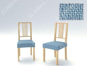 Σετ (2 Τμχ) Ελαστικά Καλύμματα-Καπάκια Καρέκλας Bielastic Alaska – C/24 Ανοιχτό Μπλε