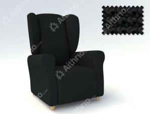 Ελαστικά Καλύμματα Μπερζέρας Super Stretch Milos – C/11 Μαύρο