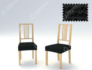 Σετ (2 Τμχ) Ελαστικά Καλύμματα-Καπάκια Καρέκλας Super Stretch Milos – C/11 Μαύρο