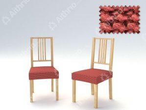 Σετ (2 Τμχ) Ελαστικά Καλύμματα-Καπάκια Καρέκλας Super Stretch Milos – C/16 Κεραμιδί