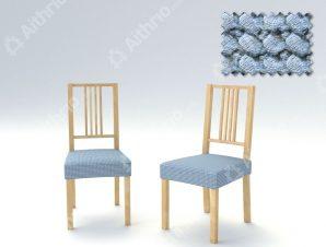 Σετ (2 Τμχ) Ελαστικά Καλύμματα-Καπάκια Καρέκλας Super Stretch Milos – C/24 Ανοιχτό Μπλε
