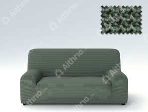 Ελαστικά Καλύμματα Προσαρμογής Σχήματος Καναπέ Milos – C/6 Πράσινο – Πολυθρόνα-10+ Χρώματα Διαθέσιμα-Καλύμματα Σαλονιού