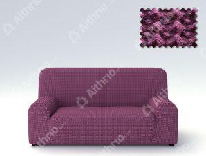 Ελαστικά Καλύμματα Προσαρμογής Σχήματος Καναπέ Milos – C/9 Μωβ – Τριθέσιος-10+ Χρώματα Διαθέσιμα-Καλύμματα Σαλονιού