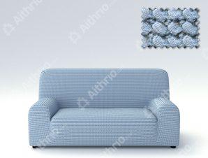 Ελαστικά Καλύμματα Προσαρμογής Σχήματος Καναπέ Milos – C/24 Ανοιχτό Μπλε – Τριθέσιος-10+ Χρώματα Διαθέσιμα-Καλύμματα Σαλονιού