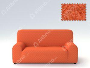 Ελαστικά Καλύμματα Καναπέ Miro-Τριθέσιος-Πορτοκαλί-10+ Χρώματα Διαθέσιμα-Καλύμματα Σαλονιού