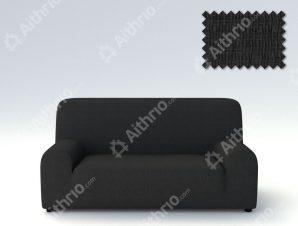 Ελαστικά καλύμματα καναπέ Peru-Τετραθέσιος-Μαύρο-10+ Χρώματα Διαθέσιμα-Καλύμματα Σαλονιού